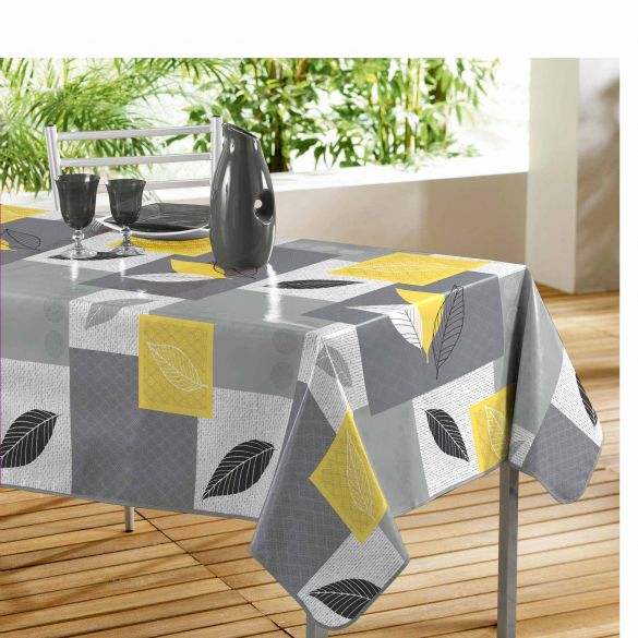 Nappe rectangle - Feuilles - 140 x 240 cm - PVC