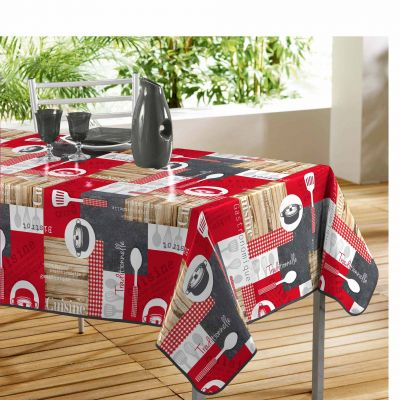 Nappe rectangle - En cuisine - 140 x 240 cm - PVC