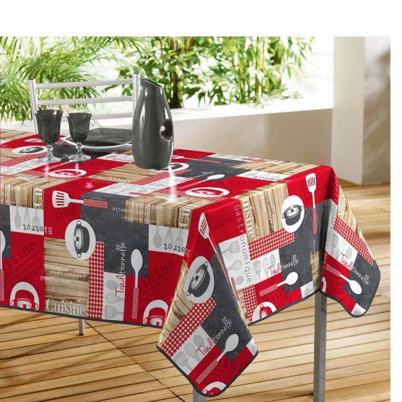 Nappe rectangle - En cuisine - 140 x 240 cm - PVC