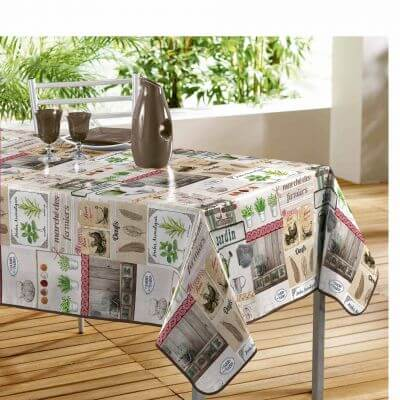 Nappe rectangle - Poules à la ferme - 140 x 240 cm - PVC
