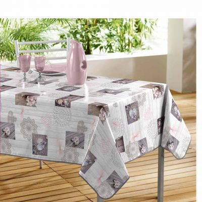 Nappe rectangle - Romantique - 140 x 240 cm - PVC