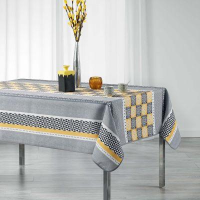 Nappe rectangle - Mosaïque graphique - 150 x 200 cm - Polyester