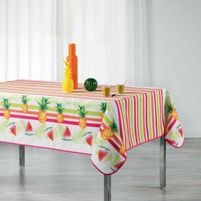 Nappe rectangle - Ananas et pastèque - 150 x 200 cm - Polyester