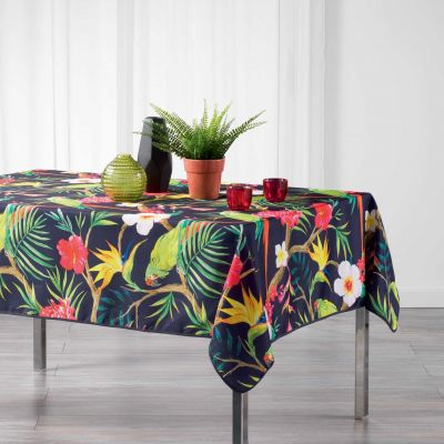 Nappe rectangle - Tropical perroquet - 150 x 240 cm - Polyester