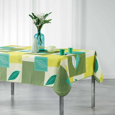 Nappe rectangle - Feuilles - 150 x 240 cm - Polyester