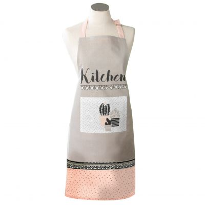 Tablier avec poche - Cactus rose - Kitchen - 60 x 84 cm - Coton