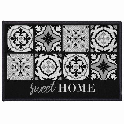 Tapis déco rectangle - Faïence - Sweet home - 40 x 60 cm