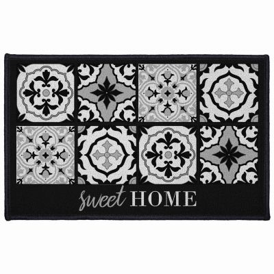 Tapis déco rectangle - Faïence - Sweet home - 50 x 80 cm