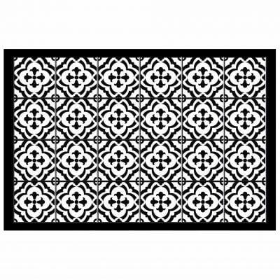 Tapis rectangle - Faïence et mosaïque - 50 x 75 cm - Vinyle