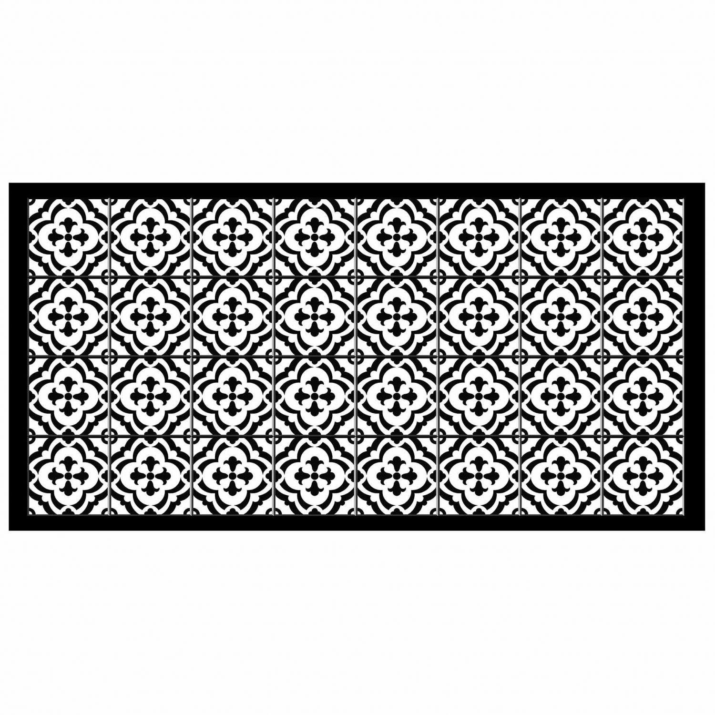 Tapis rectangle - Faïence et mosaïque - 50 x 100 cm - Vinyle