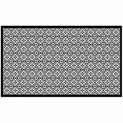Tapis rectangle - Faïence et mosaïque - 100 x 170 cm - Vinyle