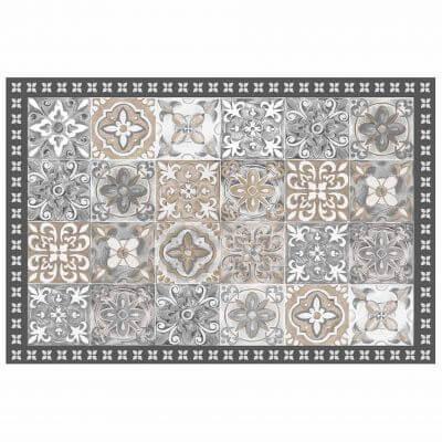 Tapis rectangle - Mosaïque et faïence - 50 x 75 cm - Vinyle