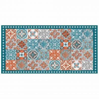 Tapis rectangle - Mosaïque et faïence - 50 x 100 cm - Vinyle