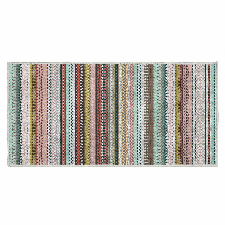 Tapis déco rectangle - Motifs mexicains - 57 x 115 cm