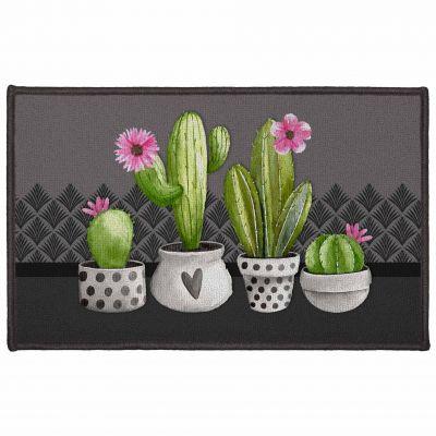 Tapis déco rectangle - Cactus - 50 x 80 cm
