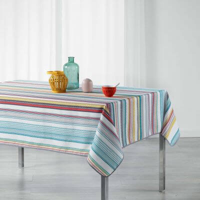 Nappe rectangle - Motifs mexicains - 150 x 240 cm - Polyester