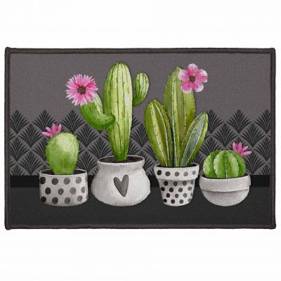 Tapis déco rectangle - Cactus - 40 x 60 cm
