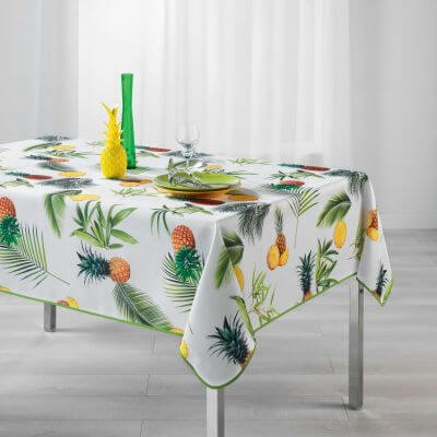 Nappe rectangle - Ananas et palmier - 150 x 240 cm - Polyester