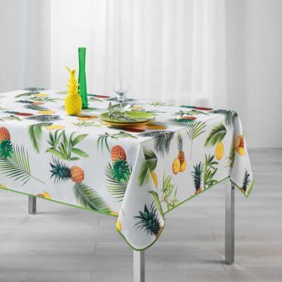 Nappe rectangle - Ananas et palmier - 150 x 240 cm - Polyester