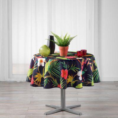 Nappe ronde - Tropical perroquet - Diamètre :  180 cm - Polyester