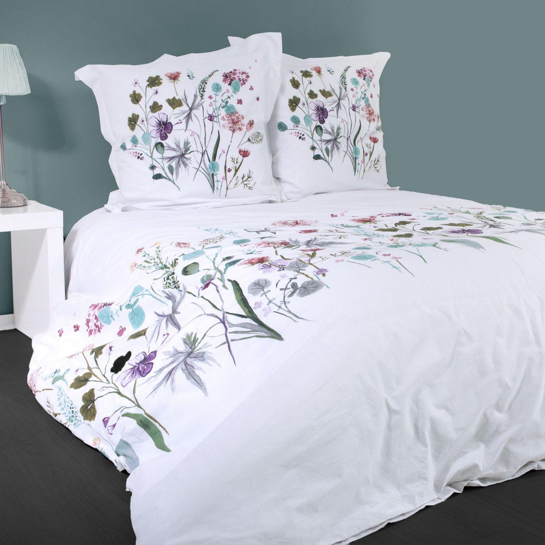 Housse de couette - Fleurs de printemps - 220 x 240 cm + taies - 100% coton