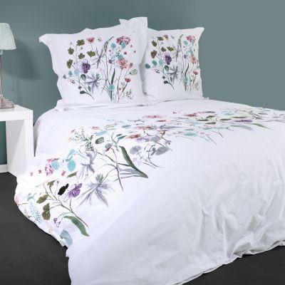 Housse de couette - Fleurs de printemps - 240 x 260 cm + taies - 100% coton