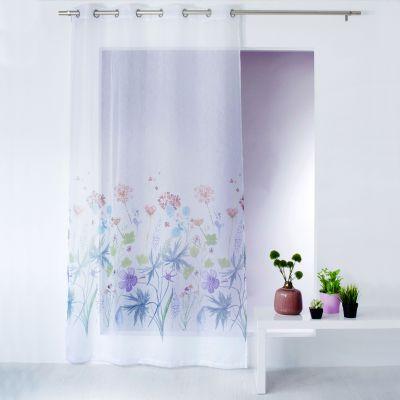 Panneau voile - Œillets - Fleurs de printemps - 140 x 240 cm