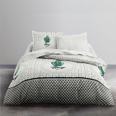 Housse de couette - Cactus - 240 x 220 cm + taie - 100% coton 57 fils