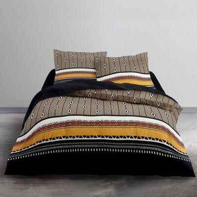 Housse de couette - Géométriques - 240 x 220 cm + taie - 100% coton 57 fils