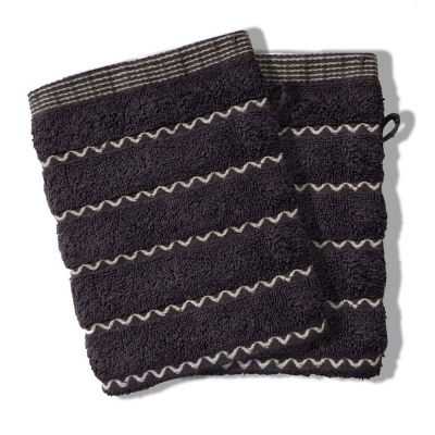 Lot de 2 gants - Vague - 16 x 21 cm - Éponge - 100% coton
