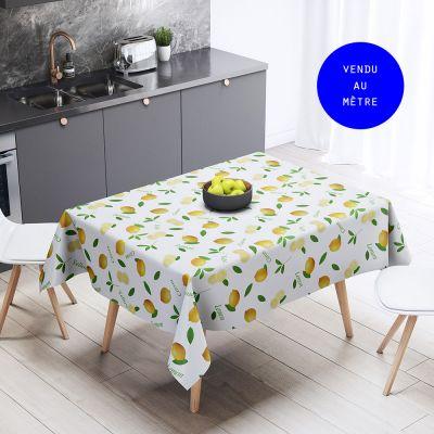 Toile cirée au mètre - Citrons - Largeur 160 cm