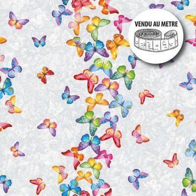 Toile cirée au mètre - Largeur 140 cm - Papillon