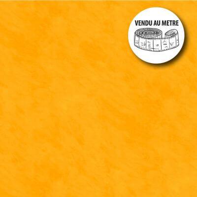 Toile cirée au mètre - Largeur 140 cm - Effet béton ciré - Orange