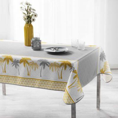 Nappe anti tache rectangulaire - 150 x 240 cm - Polyester - Palmier