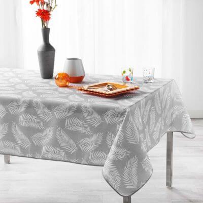 Nappe anti tache rectangulaire - 150 x 240 cm - Polyester - Feuilles de palmier