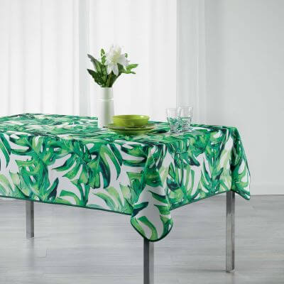 Nappe anti tache rectangulaire - 150 x 240 cm - Polyester - Tropical