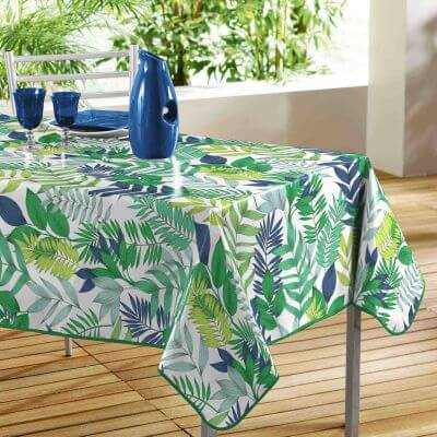 Nappe anti tache rectangulaire - 140 x 240 cm - Polyester - Tropical