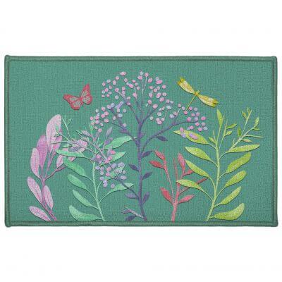 Tapis antidérapant - 50 x 80 cm - Fleurs