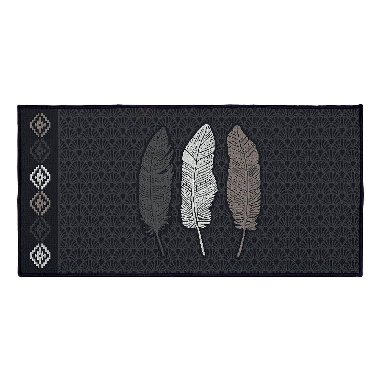 Tapis antidérapant - 57 x 115 cm - Plumes