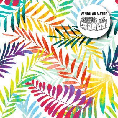 Toile cirée au mètre - Forêt tropicale en folie - Largeur 140 cm