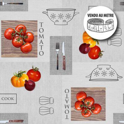 Toile cirée au mètre - Les tomates - Largeur 140 cm