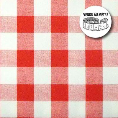 Toile cirée au mètre - Largeur 140 cm - Vichy rouge