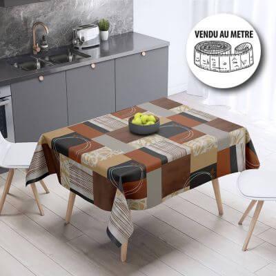 Toile cirée au mètre - Moderne - Brun - Largeur 140 cm