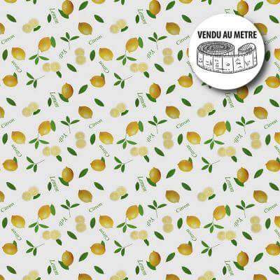 Toile cirée au mètre - Citrons - Largeur 140 cm