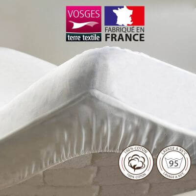 Protège-matelas - 200 x 200 cm - Molleton - France