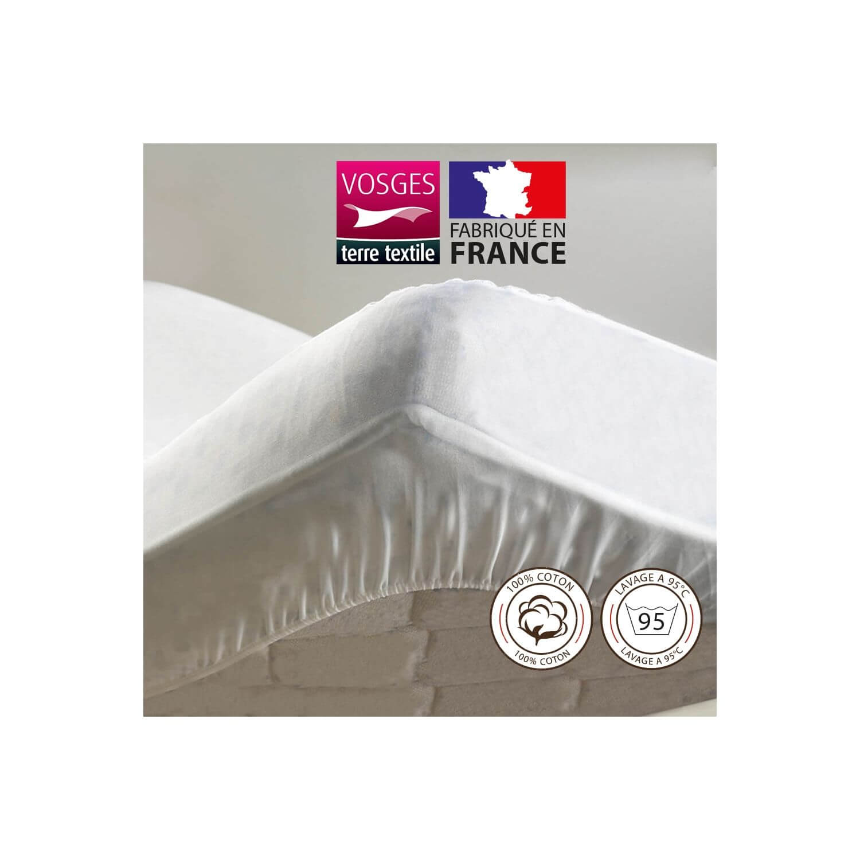 Protège-matelas - 100 x 190 cm - Molleton - France