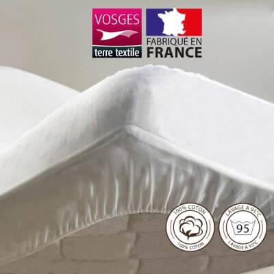 Protège-matelas - 120 x 190 cm - Molleton - France