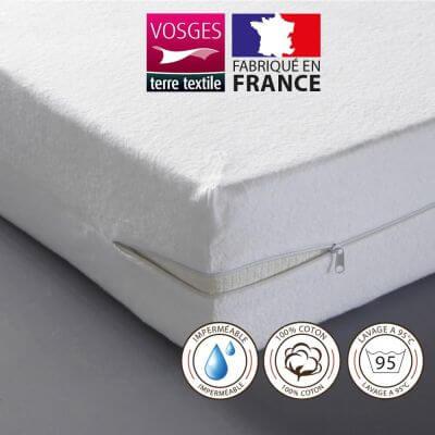 Rénove matelas imperméable - 140 x 190 cm - Molleton - France
