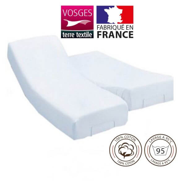 Protège-matelas 140 x 200 cm molleton lit électrique 100% coton France