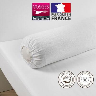 Housse protège traversin (traversin 140 cm) - 100% coton - France